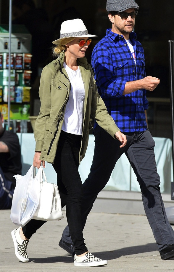 8-Le-Fashion-Blog-15-Ways-To-Wear-Checkered-Van-Slip-On-Sneakers-Celebrity-Style-Diane-Kruger-Joshua-Jackson-Via-Style-Bistro