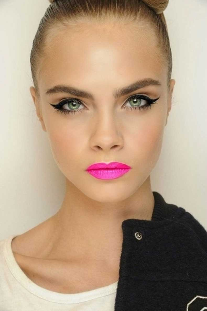 cara-delevigne-pink-lips-bright-lipstick-summer-2013-makeup-trends