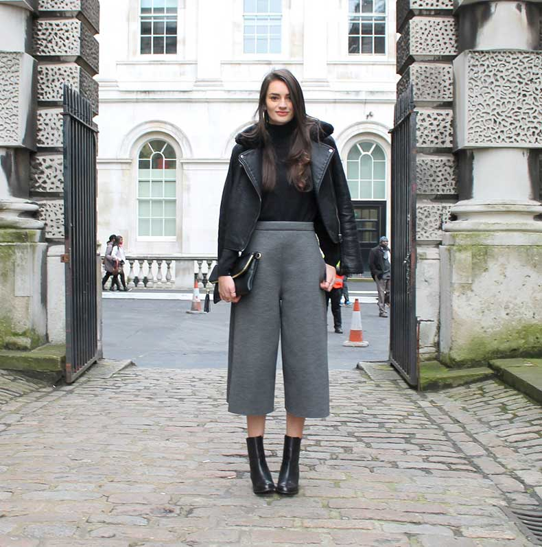 peexo-fashion-london-fashion-week-lfw-winter-autumn-aw15-culottes-roll-neck-turtle-neck-monochrome-grey-asos-premium-topshop-leather-jacket-faux-fur-collar-h&m-primark-(5)
