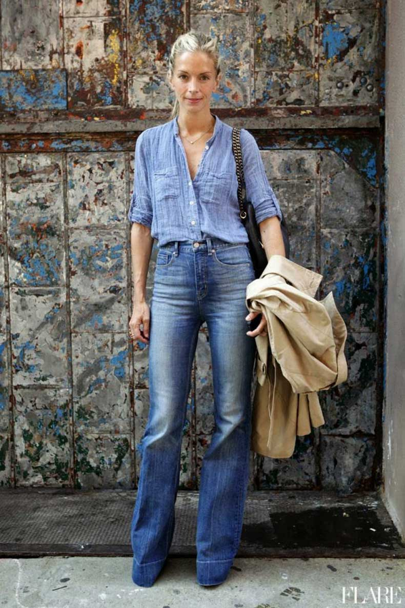 29f75__Le-Fashion-Blog-11-Ways-To-Wear-Denim-On-Denim-Inspiration-Street-Style-Chambray-Shirt-High-Waist-Wide-Leg-Jeans-Via-Flare
