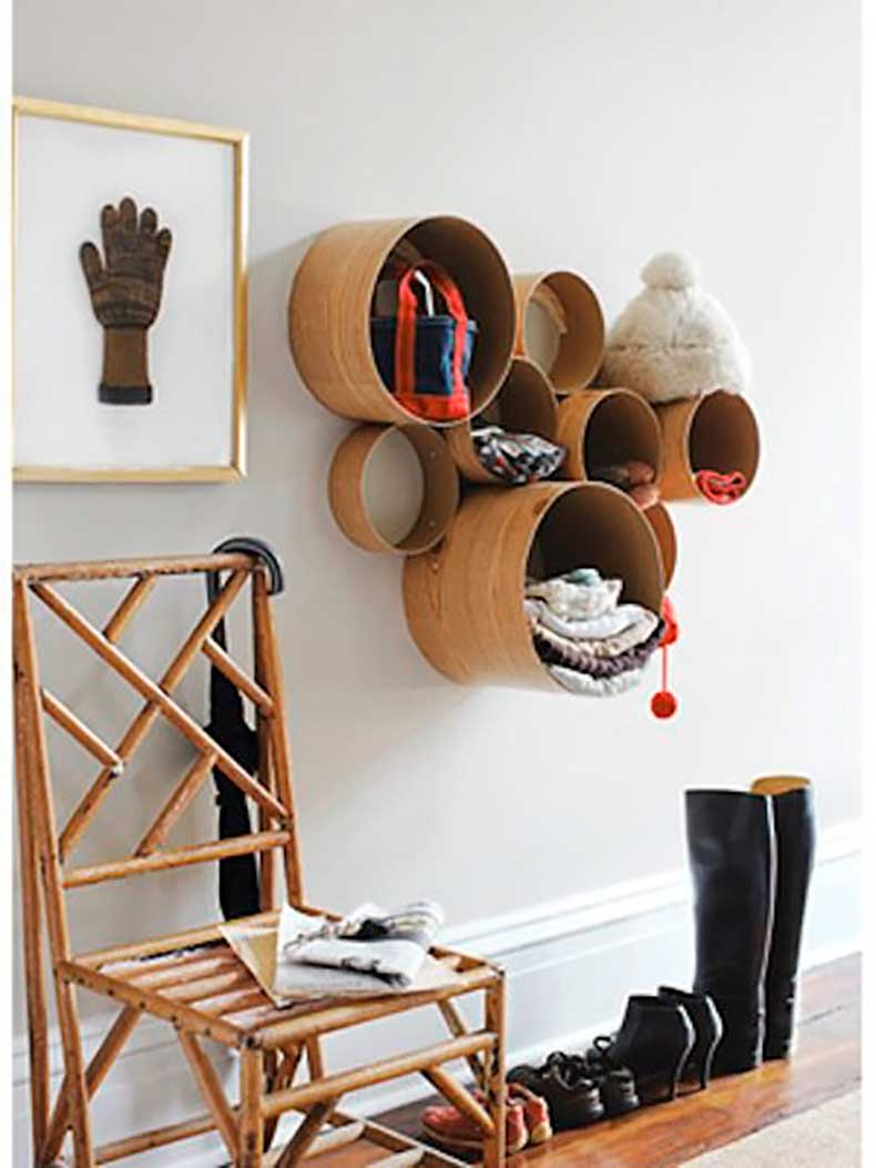 Cardboard-tubes-contact-paper-used-create-sculptural