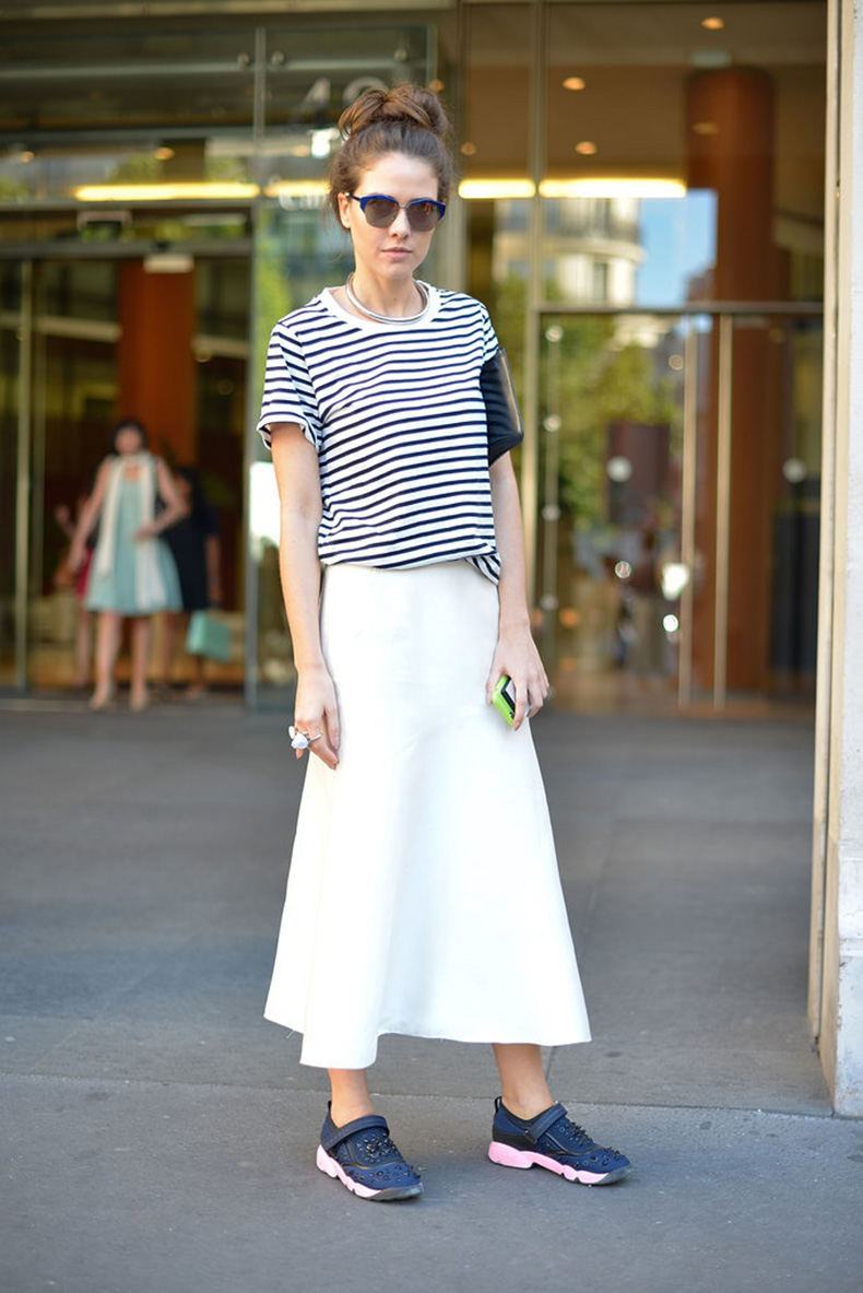 maxi-skirt-adds-sophisticated-feel-casual-tee-sneakers