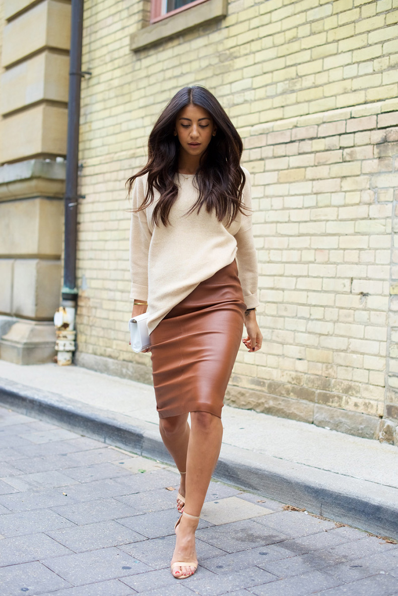 Not-Your-Standard-wearing-Monmouth-Leather-Pencil-Skirt-6
