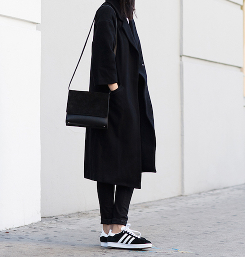 Le-Fashion-Blog-25-Ways-To-Wear-Adidas-Sneakers-Black-On-Black-And-White-Stripes-Coat-Jeans-Via-Andy-Heart