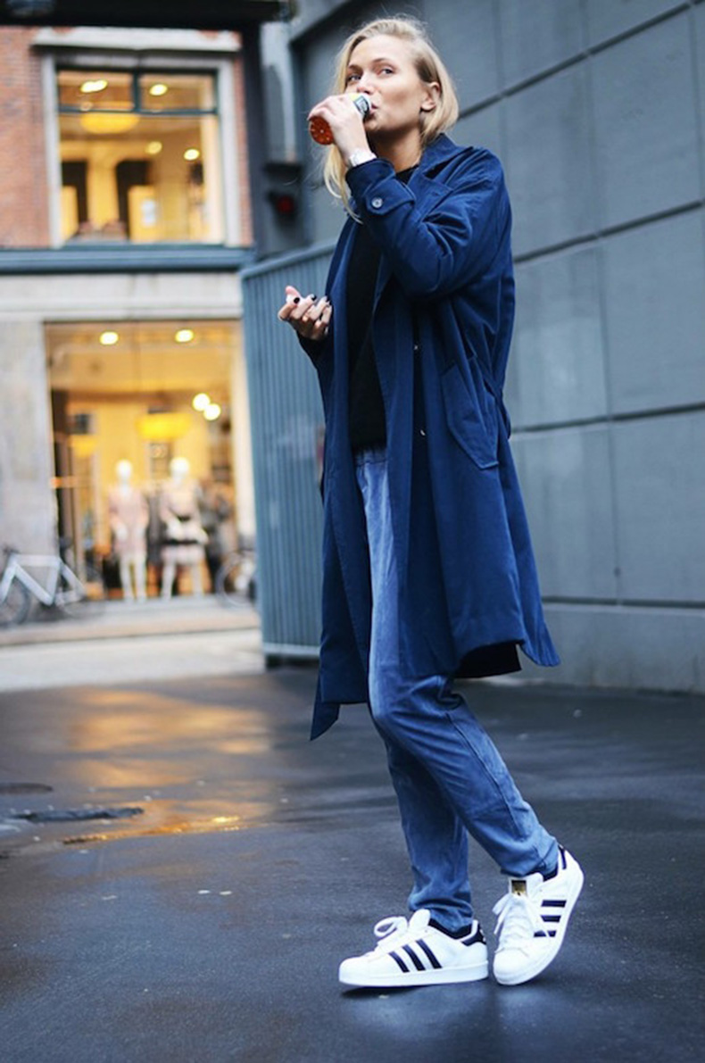 Le-Fashion-Blog-25-Ways-To-Wear-Adidas-Sneakers-Super-Star-Trench-Coat-Suede-Pants-Street-Style-Via-Emilie-Lilja