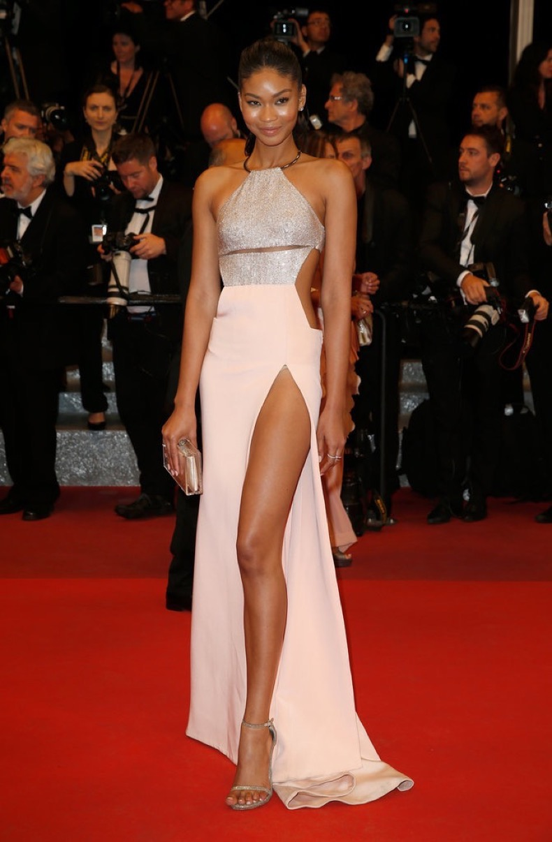 Chanel-Iman-showed-slip-leg-KaufmanFranco-gown