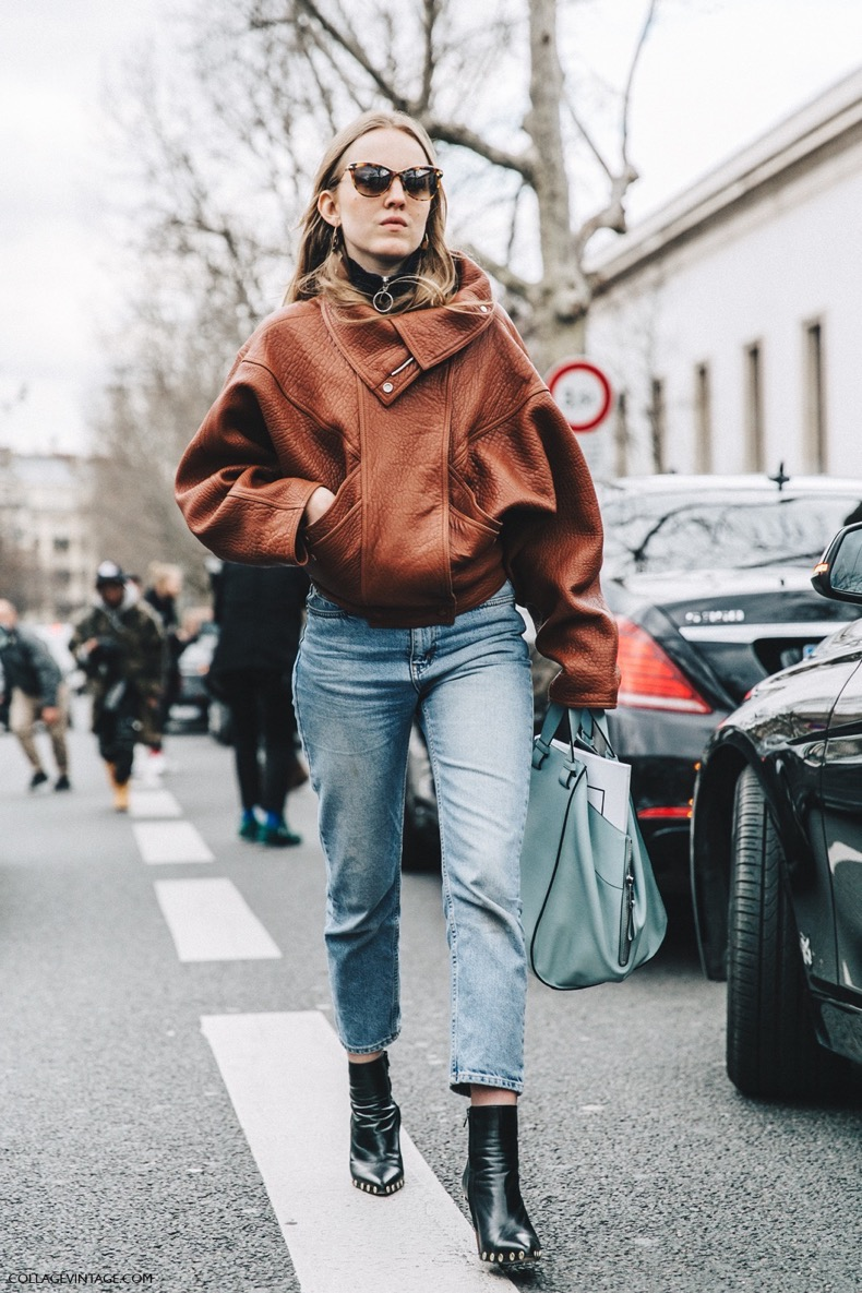 PFW-Paris_Fashion_Week_Fall_2016-Street_Style-Collage_Vintage-Alexandra_Carl-Leather_Jacket-Celine_Boots-2