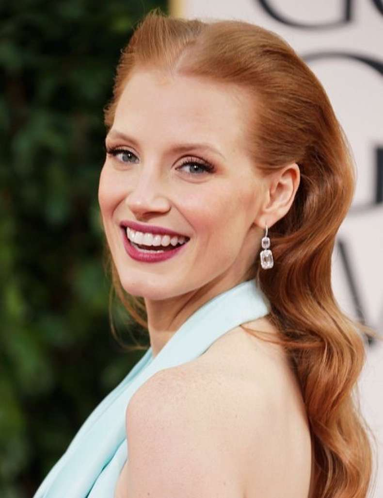 Jessica-Chastain-smiled-big-cameras-Sunday-night