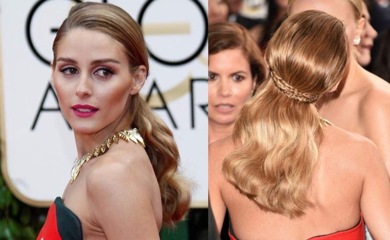 olivia-palermo-Golden-Globes-2016-hairstyle-Side-part-wavy-back