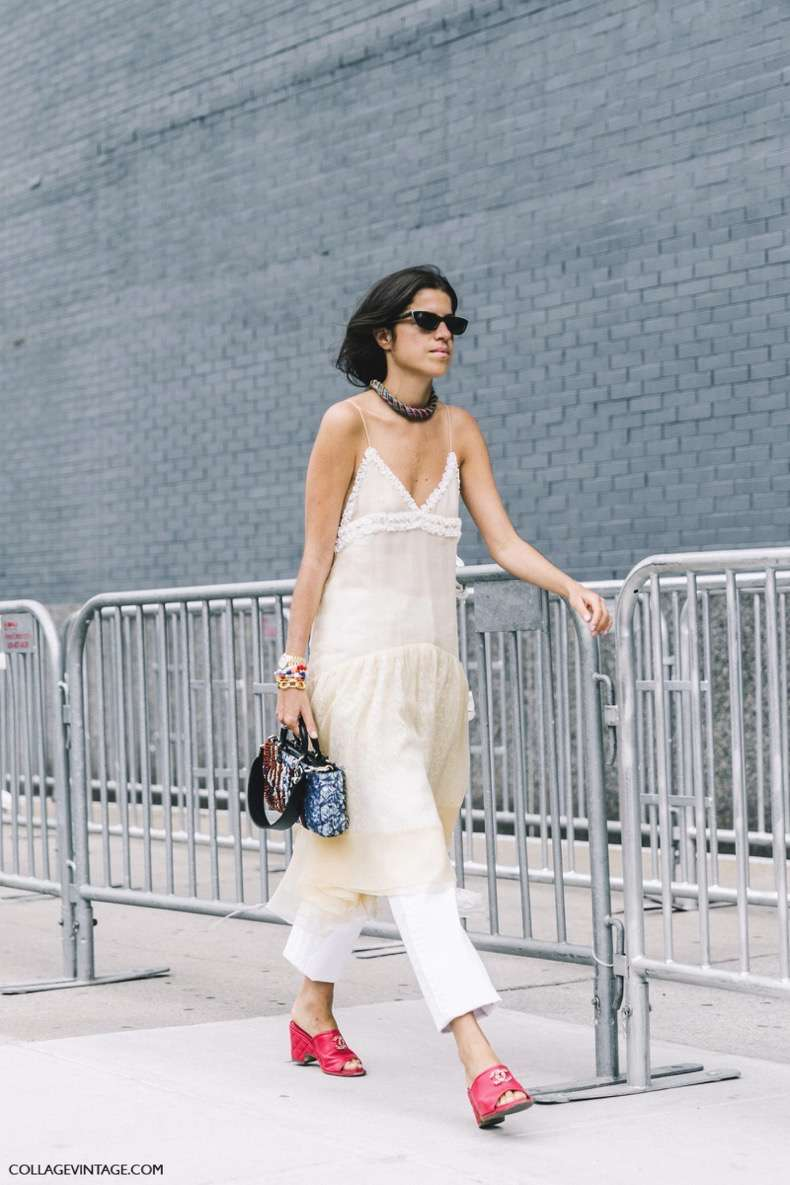 nyfw-new_york_fashion_week_ss17-street_style-outfits-collage_vintage-leandra_medine-man_repeller-dress_over_trousers-chanel_red_mules-lingerie_dress-4-1600x2400