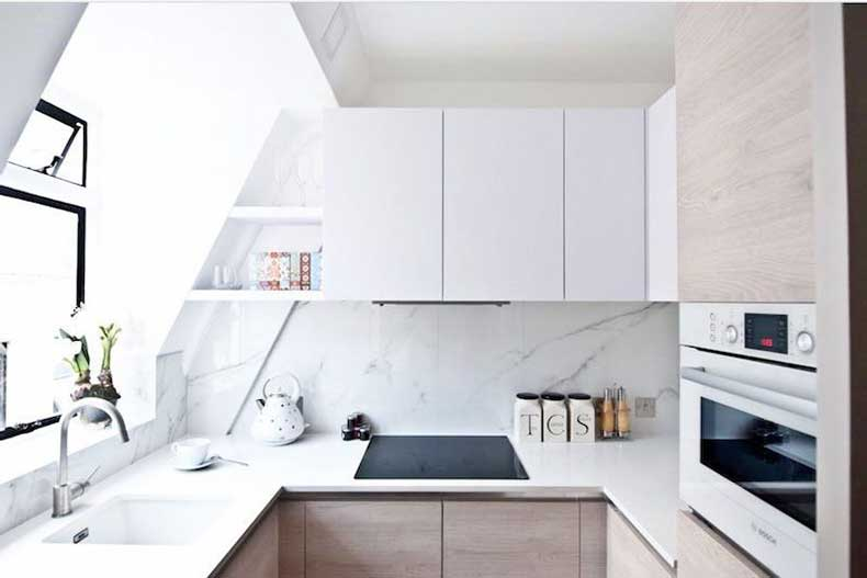 u-shape-kitchen-elle-decor-small-kitchen-white-cabinets-cococozy