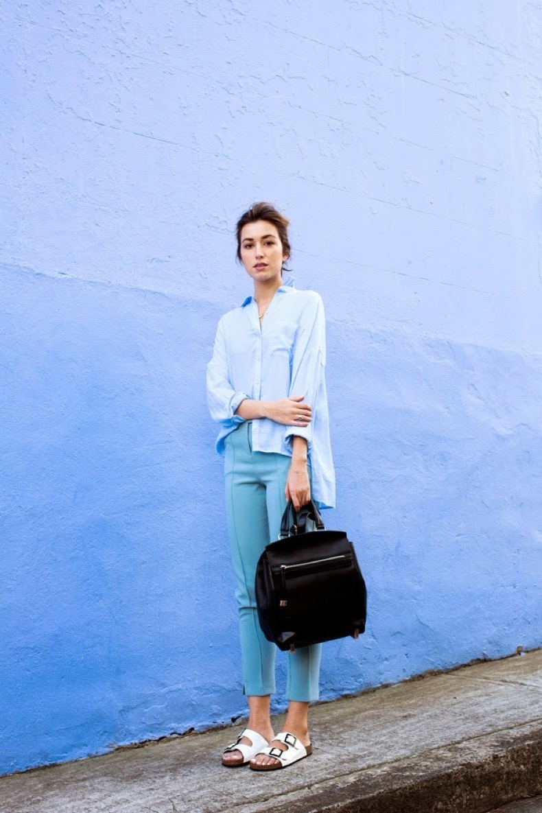 3-button-down-shirt-with-chic-pants-and-birkenstock-sandals