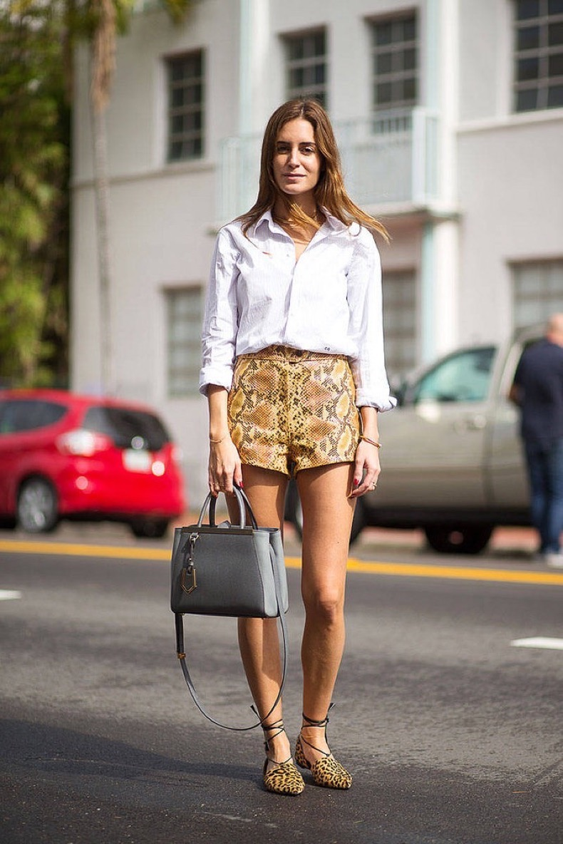 5-snake-print-shorts-and-leopard-print-flats-with-button-down-shirt